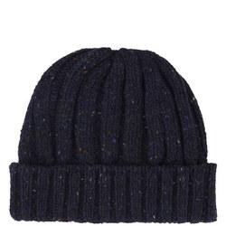 Wool Beanie Hat Blue