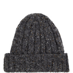 Ribbed Speckled Wool Hat