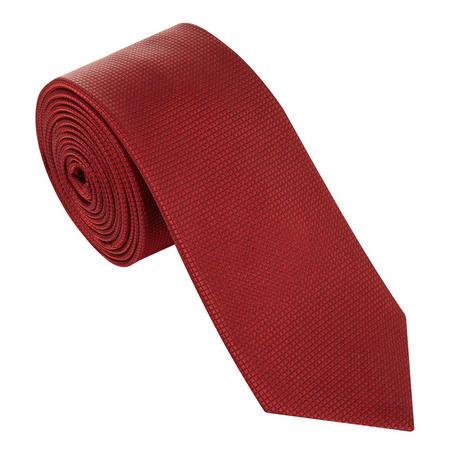 Micro-Square Silk Tie Red