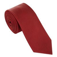 Micro-Square Silk Tie Red