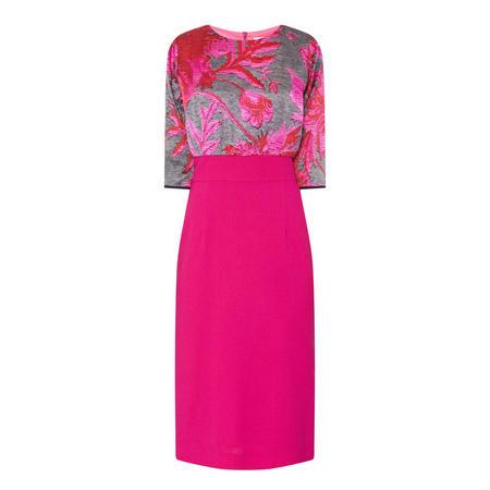 Sarah Print Top Dress Pink