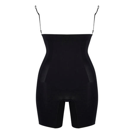 Oncore Open Bust Mid Thigh Bodysuit Black