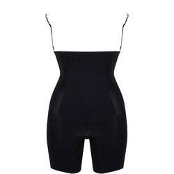Oncore Open Bust Mid Thigh Bodysuit Black