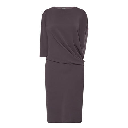 Clara Drape Dress Grey