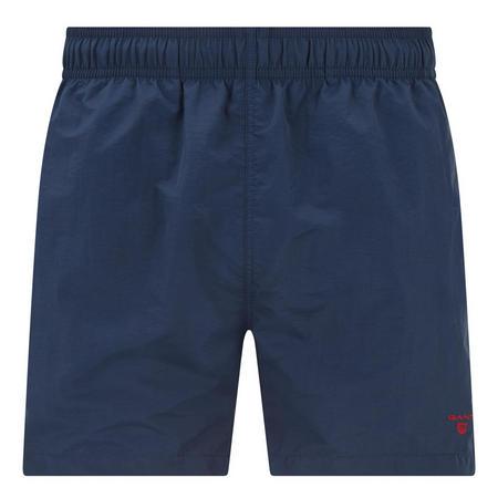 Basic Solid Swim Shorts Navy