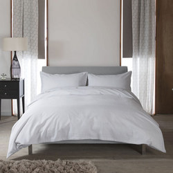 St Tropez Light Duvet Set  Grey