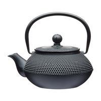 L'Express 600ml Cast Iron Infuser Teapot Black