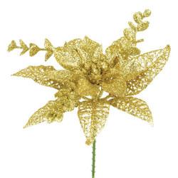 Poinsettia Christmas Pick 15cm