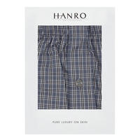 Woven Check Boxer Shorts Grey