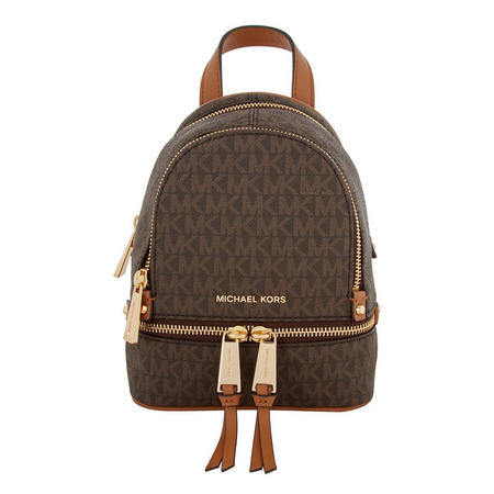 Rhea Signature Zipped Backpack Extra Small