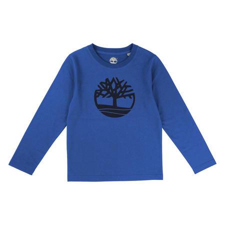 Long Sleeve Logo T-Shirt Blue