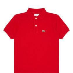 Boys Short Sleeve Piqué Polo Shirt Red