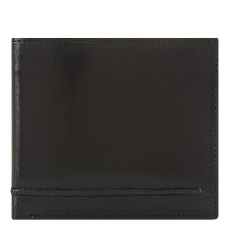 Waxed Leather Slim Billfold Wallet Black
