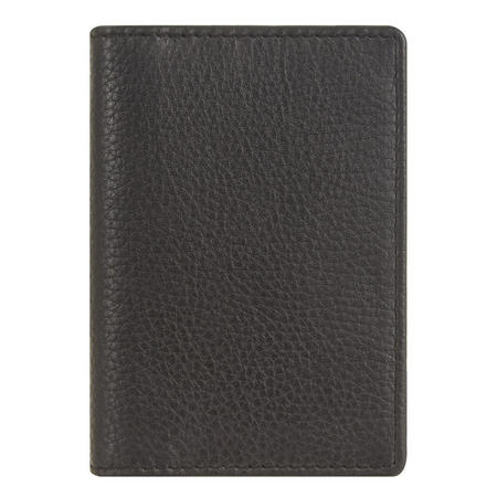 Leather Card Holder with RFID Blocking Black