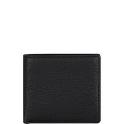 Pebble Grain Leather Slim Billfold Wallet Black