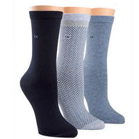 Three-Pack Polka Socks Blue