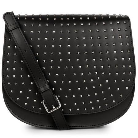 Pur Studs Saddle Bag Black
