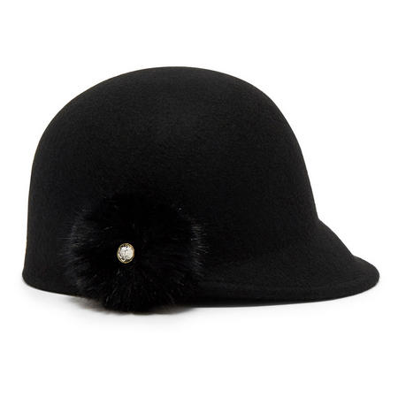 Ted Baker Adabel Pom Pom Felt Hat Black 8b1350be7fef