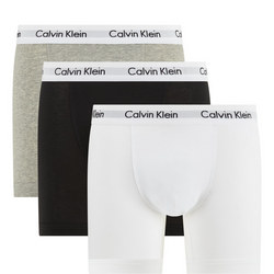 Three-Pack Cotton Stretch Trunks Multicolour