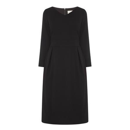 Lily V-Neck Dress Black
