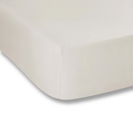 Cotton Soft 200 Thread Count Fitted Sheet Cream