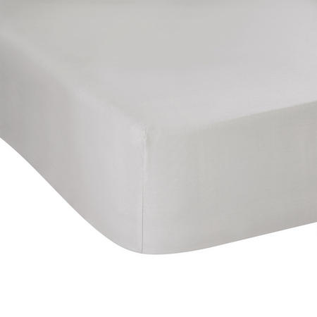 300 Thread Count Fitted Sheet Silver-Tone