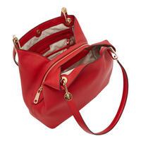 Raven Shoulder Tote Bag Red