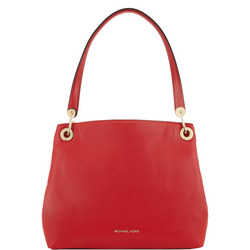 Raven Shoulder Tote Bag Red