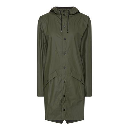 Long Waterproof Coat Green