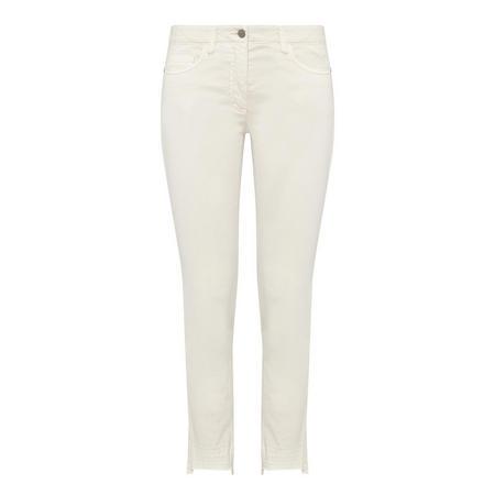 Skinny Fit Trousers Beige