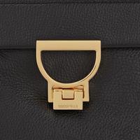 Arlettis Flap Leather Backpack Black