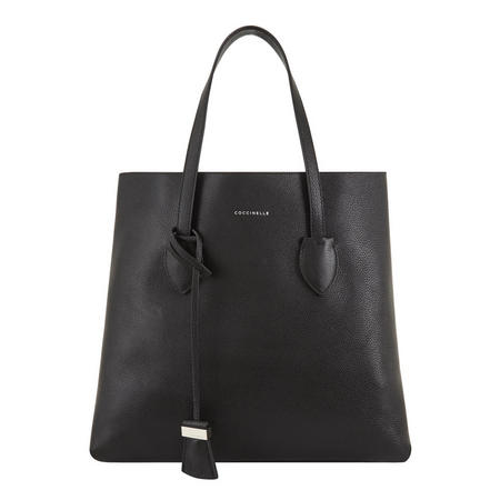 Celene Leather Tote Black