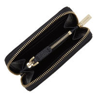 Leather Zip-Around Wallet Small Navy