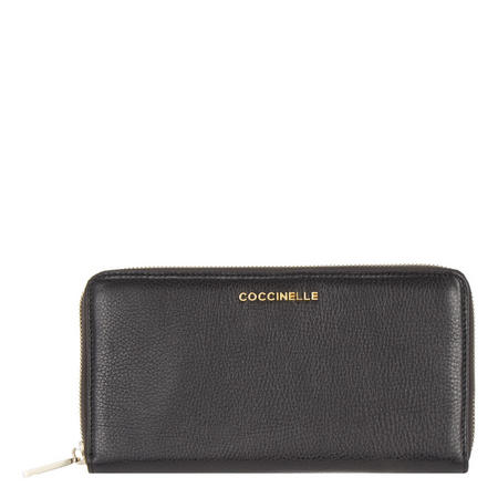 Continental Leather Wallet Black