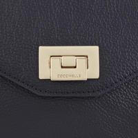 Pochette Flap Leather Crossbody Navy