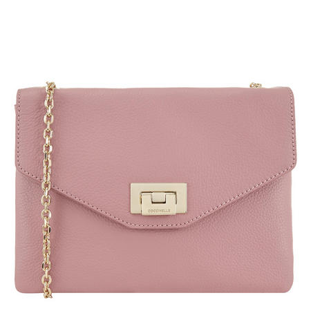 Pochette Flap Leather Crossbody Pink