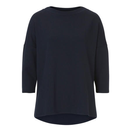 3/4 Sleeve Oversize Sweater Navy