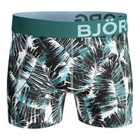 Two-Pack Palm Leaf Cotton Stretch Boxers Green