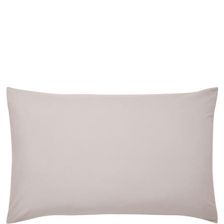 180 Thread Count Standard Pillowcase Pair Silver-Tone