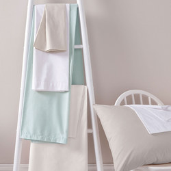 Sanderson 180 Thread Count Fitted Sheet Duck Egg