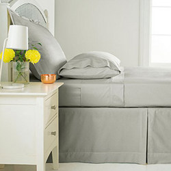 Sanderson 180 Thread Count Fitted Sheet Silver