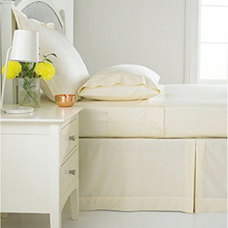Sanderson 180 Thread Count Fitted Sheet Ivory