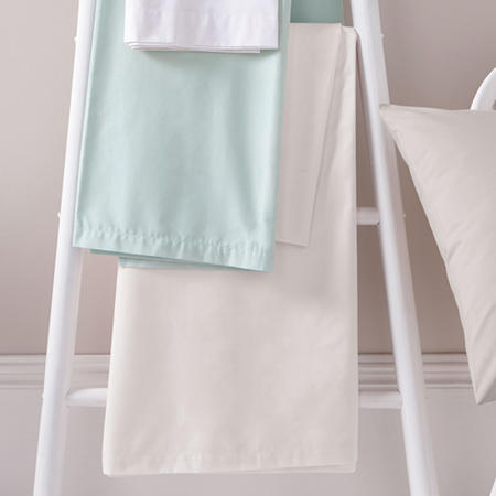 180 Thread Count Flat Sheet White