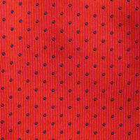 Dot Print Silk Tie Red
