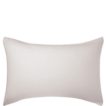 Brushed Cotton Housewife Pillowcase Silver-Tone