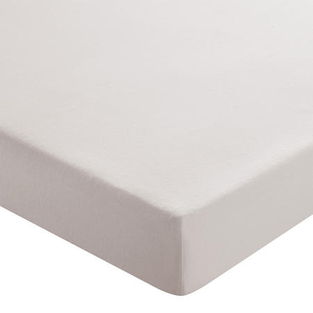 Brushed Cotton Fitted Sheet Silver-Tone