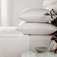 Brushed Cotton Flat Sheet Silver-Tone