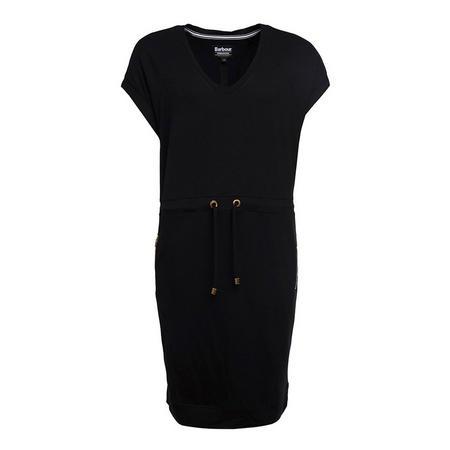 Short Sleeve Tapered Dress Black