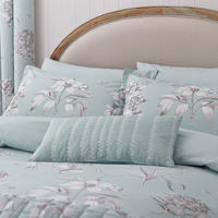 Etchings & Roses Cushion Blue