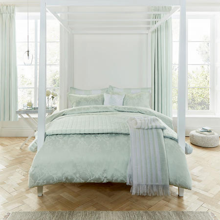 Alencon Duvet Cover Blue